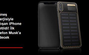 Güneş Enerjisi ile Çalışan iPhone X