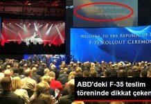 ABD'de F-35 Türkiye'ye Teslim Töreni